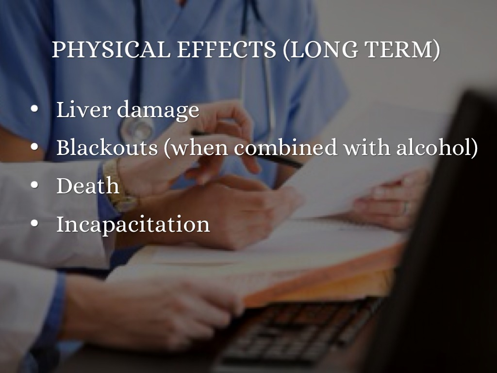 Long term effects of rohypnol