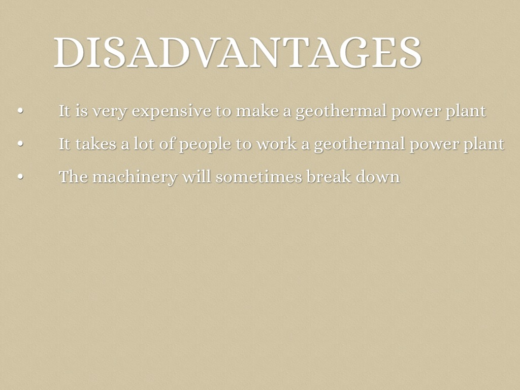 geothermal advantages and disadvantages pdf
