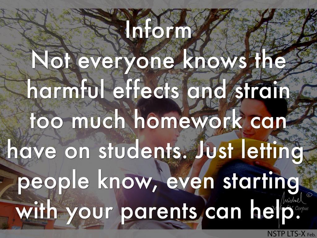 kids should have less homework