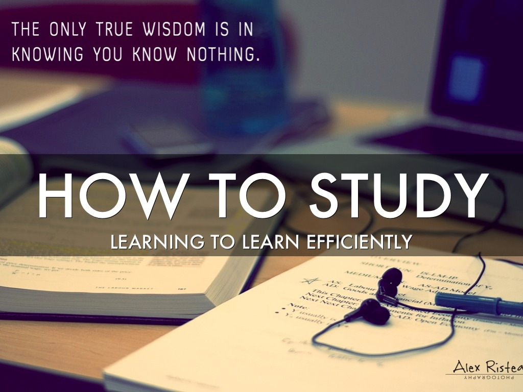 Learning To Study