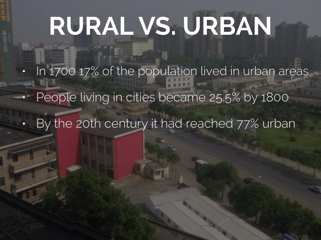 urban living vs rural living