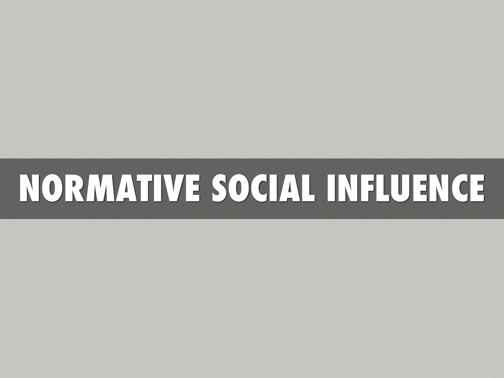 normative and informative social influence Normative social influence is a type of social influence leading to conformity it is defined in social psychology as the influence of other people that lead.