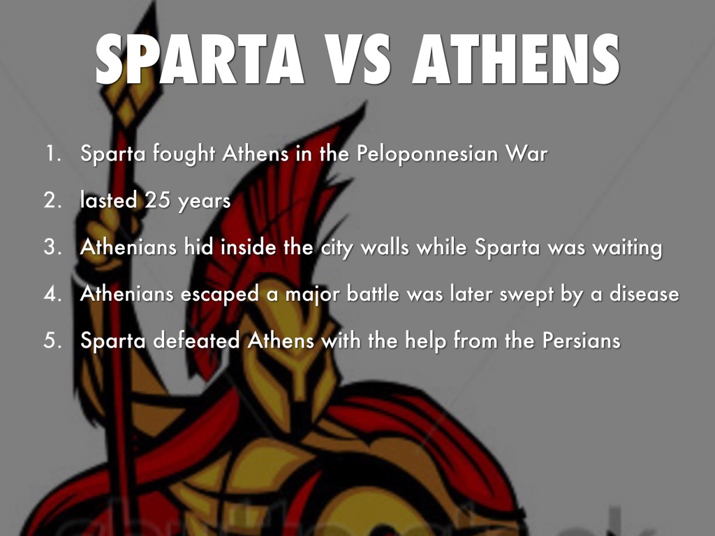athens vs sparta 4 Review opinions on the online debate sparta is better than athens.