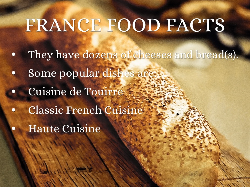 interesting food facts about france food