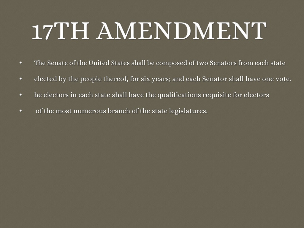 17th amendment essays Video: 15th amendment: summary, significance & facts no matter their color, most americans over 18 can register to vote however what is the 17th amendment.