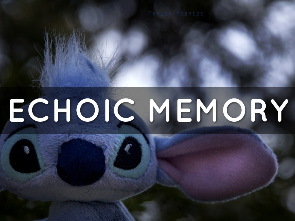 echoic memory Echoic memory echoic memory is the branch of sensory memory used by the auditory system echoic memory is capable of holding a large amount of auditory information, but only for 3–4.