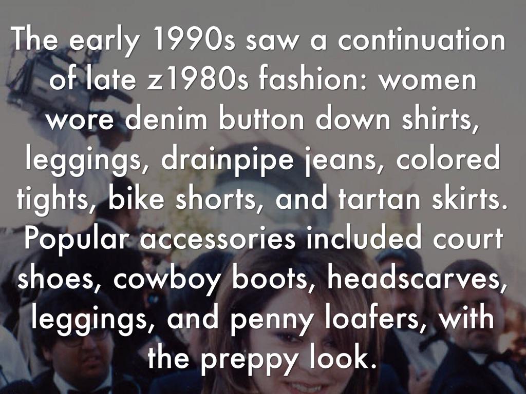1990's fashion trend