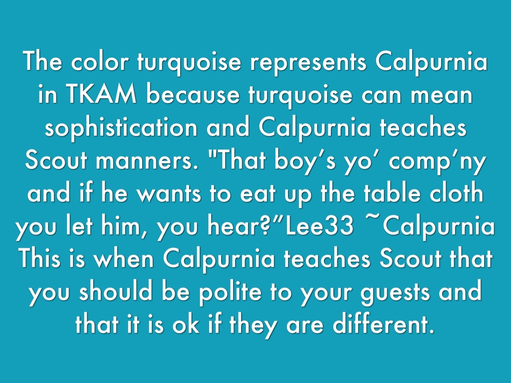 tkam calpurnia essay To kill a mocking bird - calpurnia essayschoose a character out of the novel describe the character's personality and placement in the novel - how does this character relate to the finch.