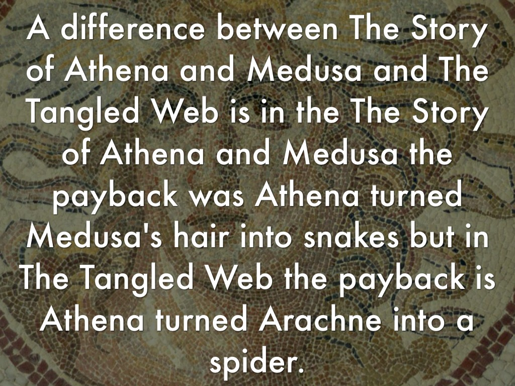 story of medusa and athena This page has the story of athena and perseus a t h e n a a then he aimed a stroke down at medusa's throat and athena guided his hand.