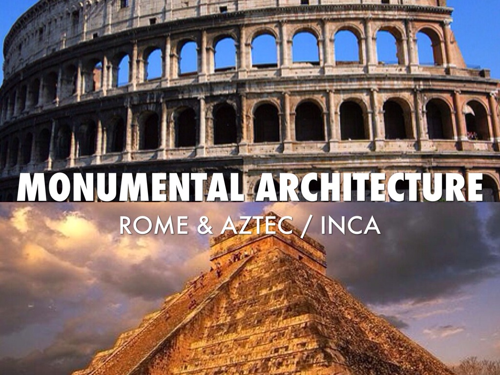 monumental architecture Monumental architecture architecture was the most important of the inca's arts the main example is the capital city of cuzco the breathtaking site of machu picchu was constructed by inca engineers.