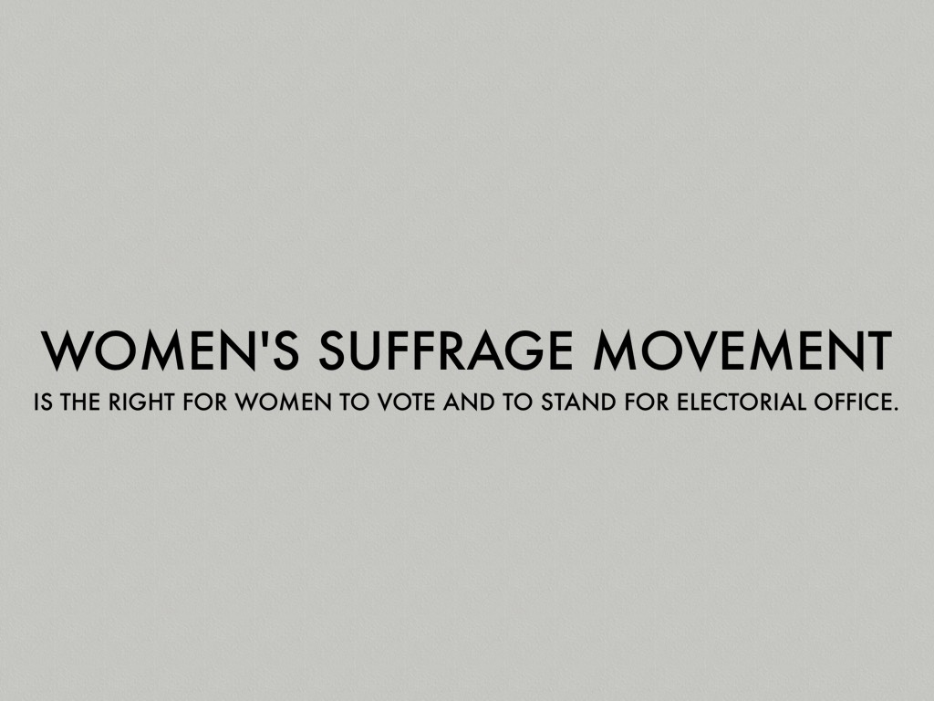 the women s suffrage movement The movement had its greatest success in the reform of women's undergarments significance of the american west to the suffrage movement women in the west were the first to vote in the united states   .