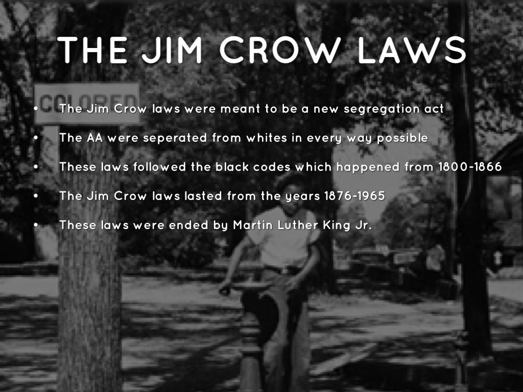 essays on jim crow laws Jim crow laws essaysintroduction: this paper is designed to give an opinion about how i feel about the jim crow laws and how they affected america but i have decided.