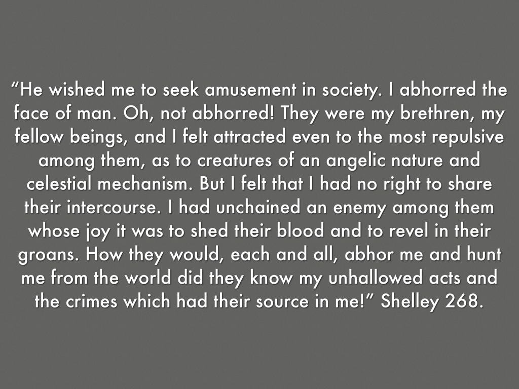 "Quotes From Frankenstein Solidarity In ""frankenstein""elise Gillespie"