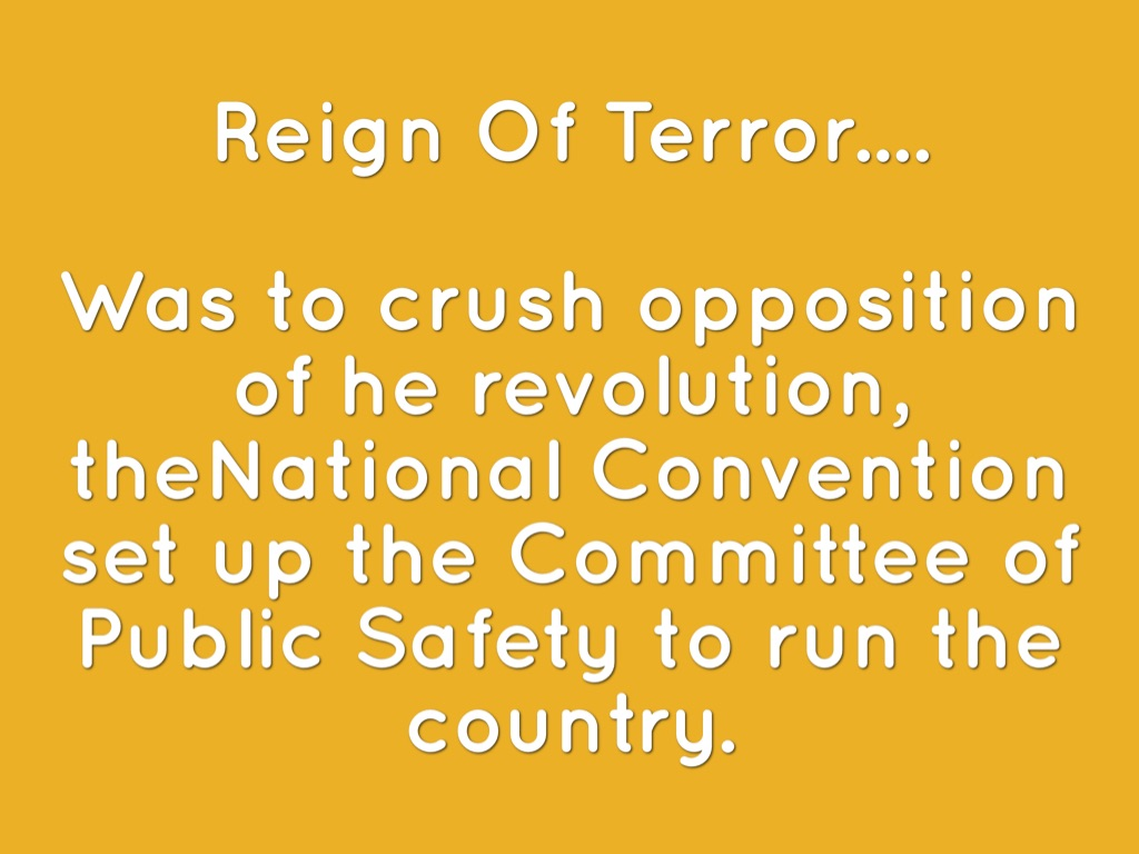 the reign of terror directed by the committee of public safety in france During the terror, the committee of public safety france: the reign of terror the committee of public safety and the reign of terror.