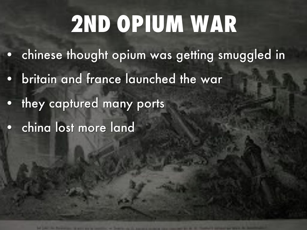 opium wars in china essay The opium wars: from both sides now in the case of the opium war the examination of chinese materials has highlighted how split the court was on.