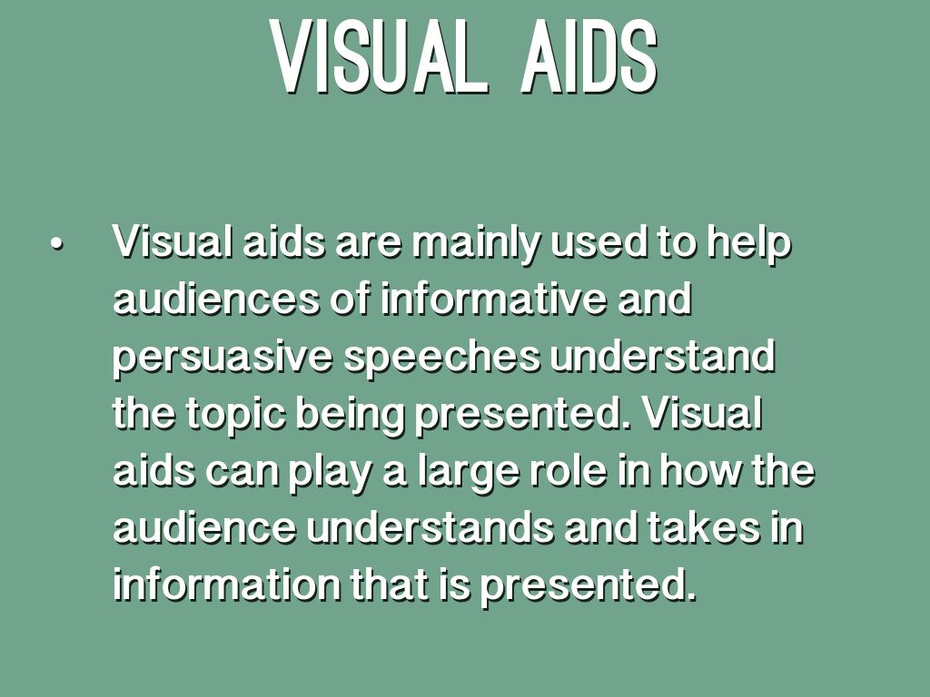 visual aid for persuasive speech