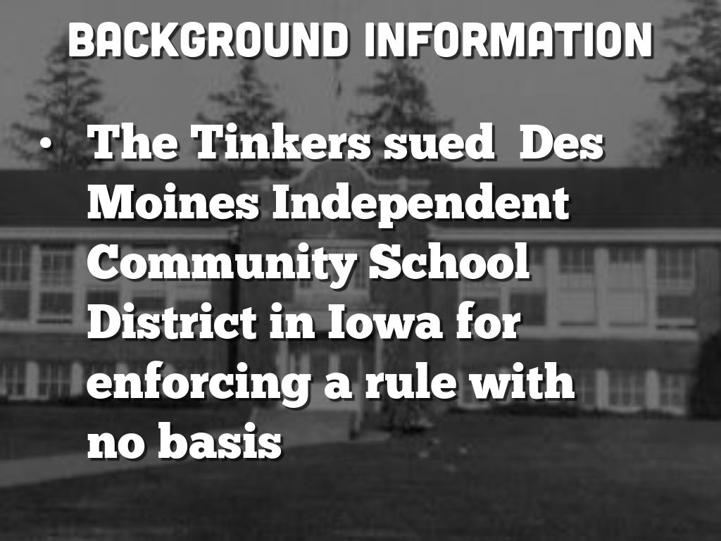 TINKER V  DES MOINES 1969 Court Case Project by Sonya A