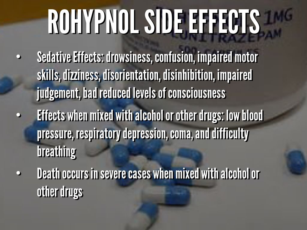 Side effects of ruffy drug