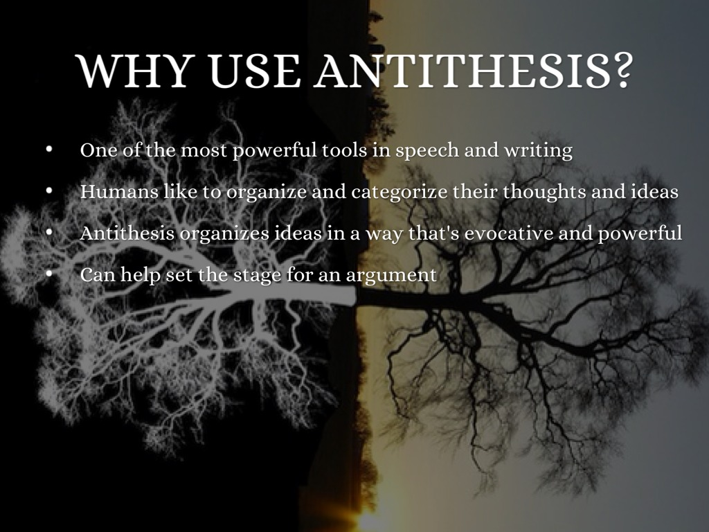 what is a antithesis Antitheses definition, opposition contrast: the antithesis of right and wrong see more.