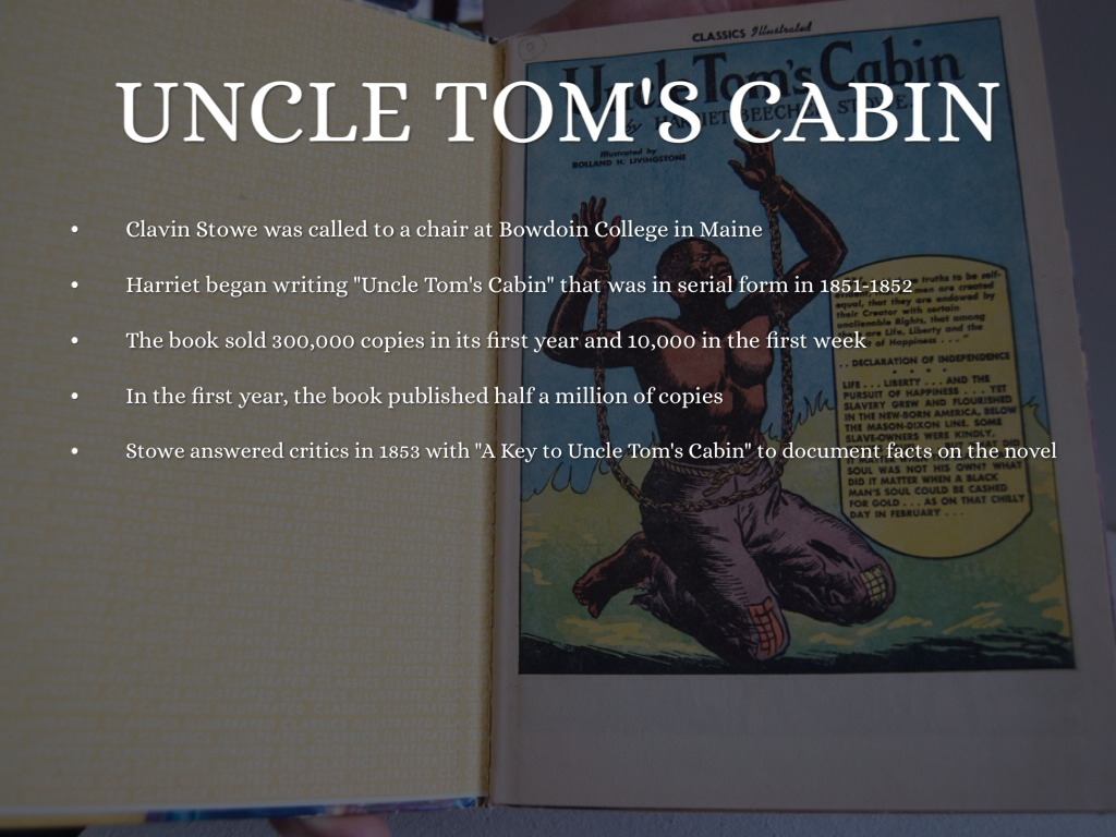 uncle tom s cabin book report essay The book, uncle tom's cabin, is thought of as a fantastic, even fanatic, representation of southern life, most memorable for its emotional oversimplification of the complexities of the slave system, says gossett (4.