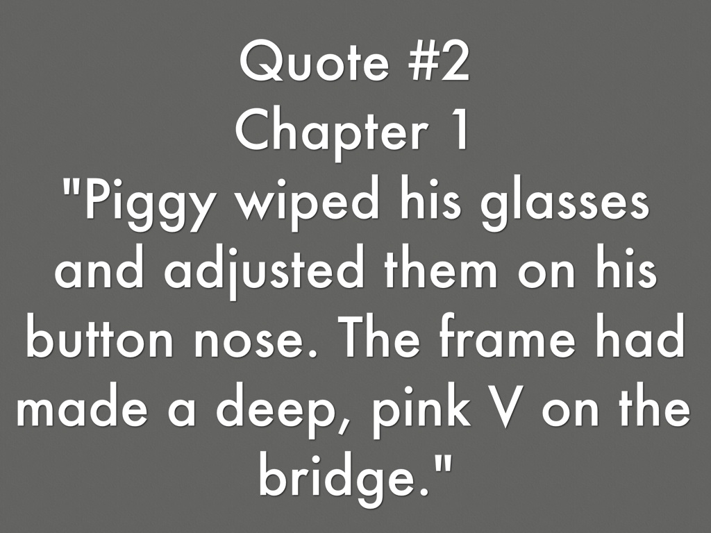 lord of the flies piggys glasses