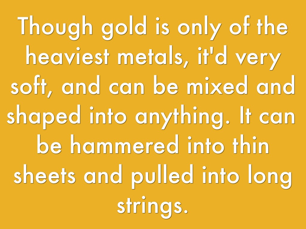 Gold By M Hilleary