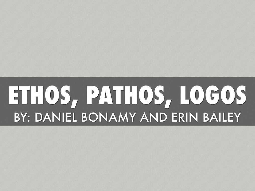 ethos outline Transcript of persuasive speech- pathos, ethos, and logos pathos, ethos, and logos a deeper analysis.