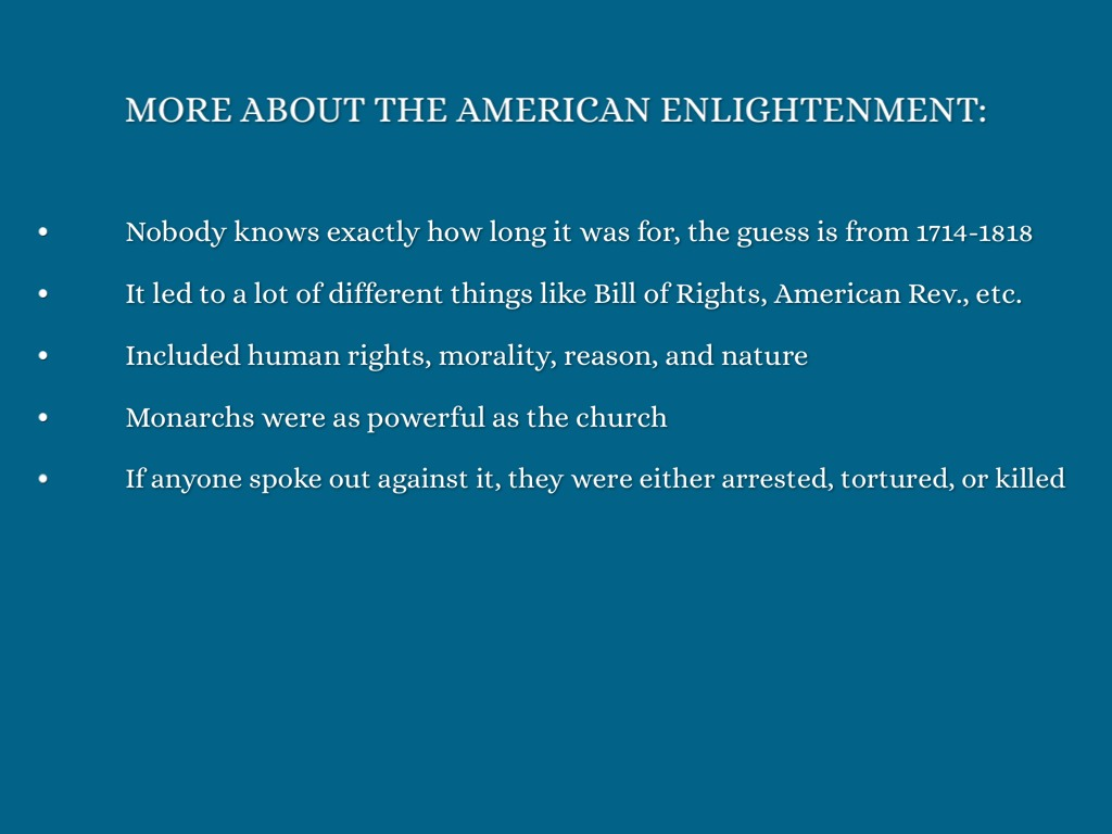 the american enlightenment The american enlightenment project was formed to end the gun violence  epidemic through a major re-education of the courts and public, and legal  challenges.
