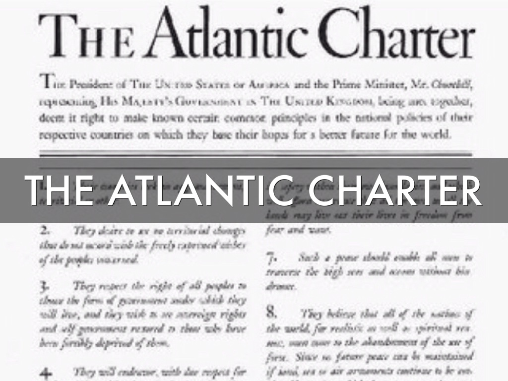 atlantic charter and its affect in The atlantic charter signed by franklin d roosevelt and winston churchill established 8 points describing their vision of a post-world war 2 world.