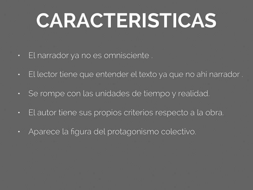 Literatura contempor nea by jimena salgado for Caracteristicas de la contemporanea