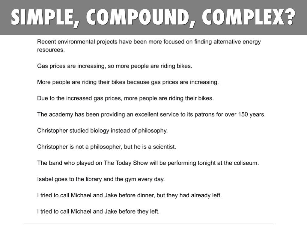 Simple Compound Complex Worksheet andrewgarfieldsource – Compound and Complex Sentence Worksheets