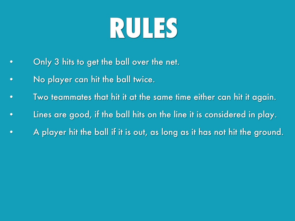 an analysis of the history and rules of volleyball Volleyball rules are simple and can be learned quickly by beginners the simplified rules follow the penalty for practically every foul is the loss of the ball for.