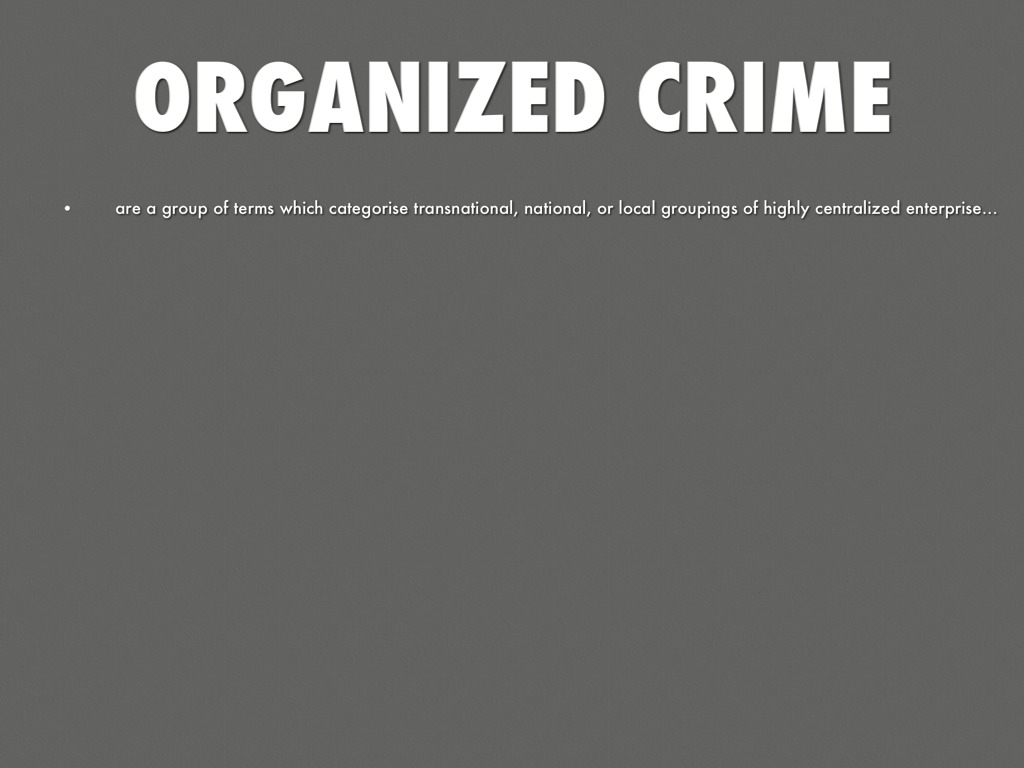 a history of the rise of organised crime in the united states Prohibition in the united states caused abundant organized crime regarding alcohol one example of organized crime was rum runners people who smuggled alcohol into.