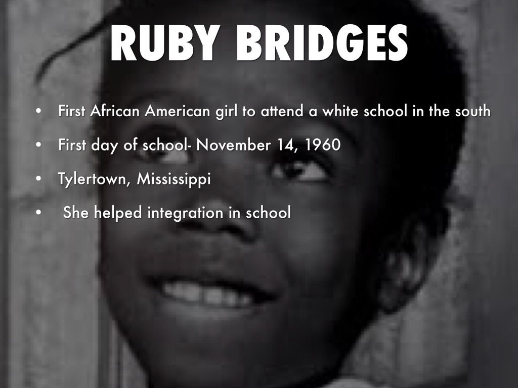 Ruby Bridges Quotes Civil Rightsmadelynne Cordon