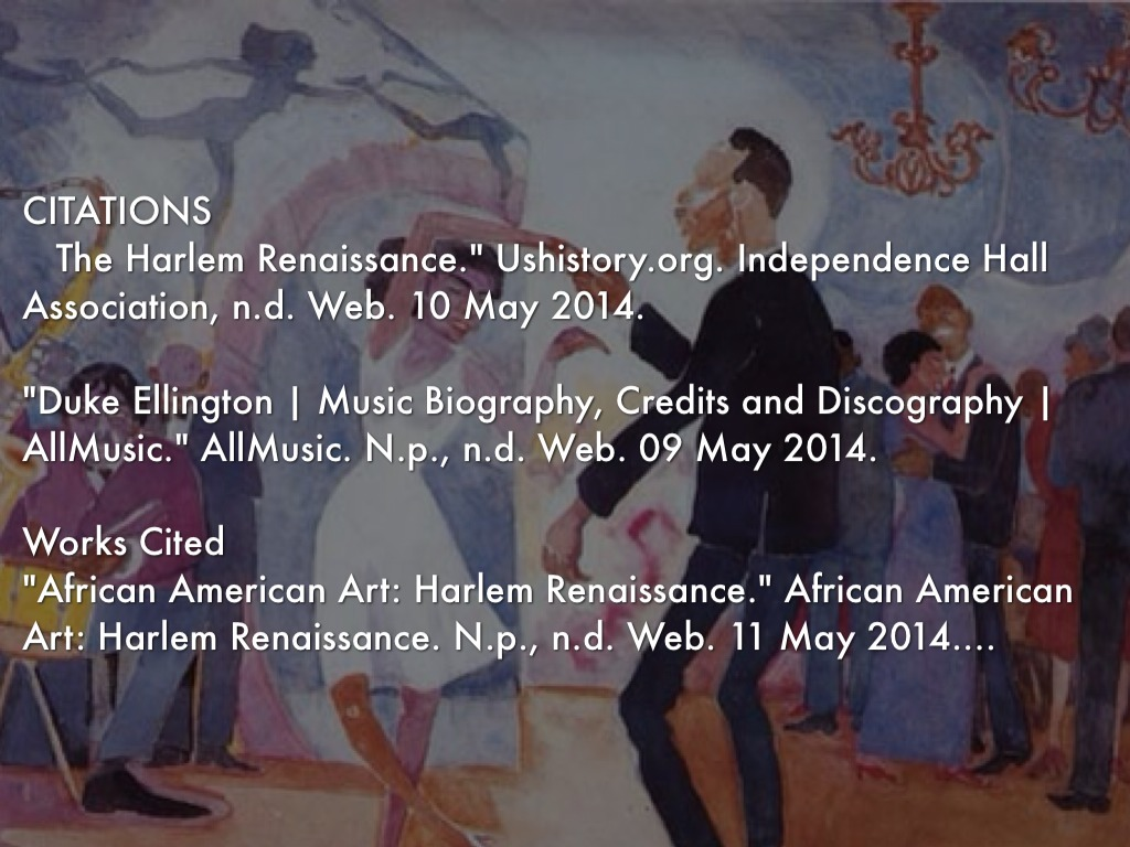 the significant changes for african americans in the harlem renaissance Artists between 1920-1930 this cultural movement became known as the new negro movement later the harlem renaissance african americans were encouraged to.