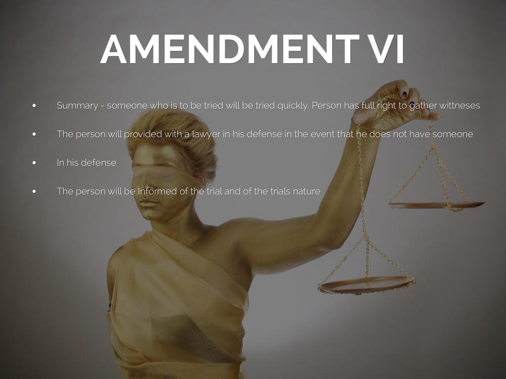 Amendment 6 summary