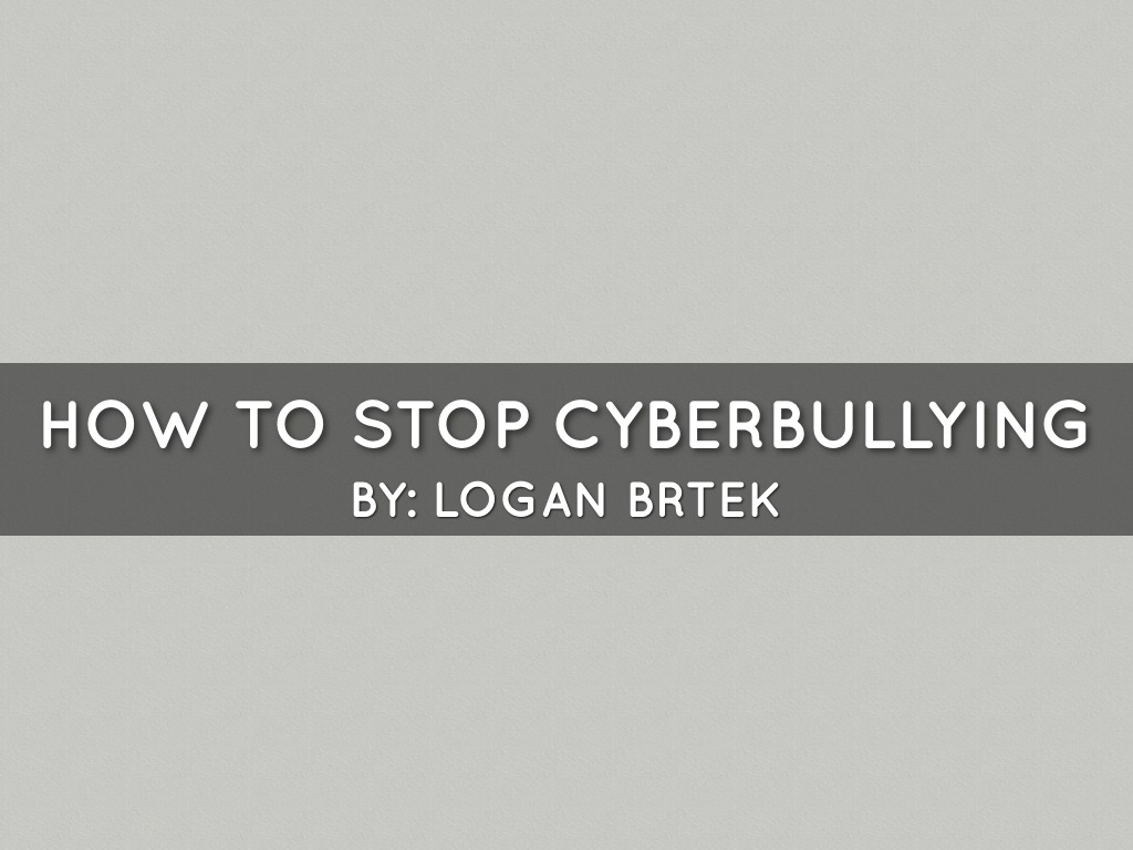 How To Stop Cyberbullying
