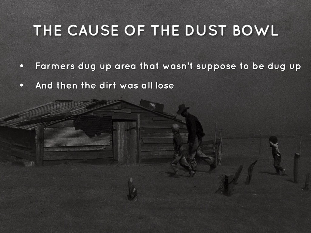 causes the dust bowl Lots of people think differently on how the dust bowl was caused but i believe it was caused by overproduction, lack of rainfall, and dust storms as technology evolved during the depression, more crops were being harvested.