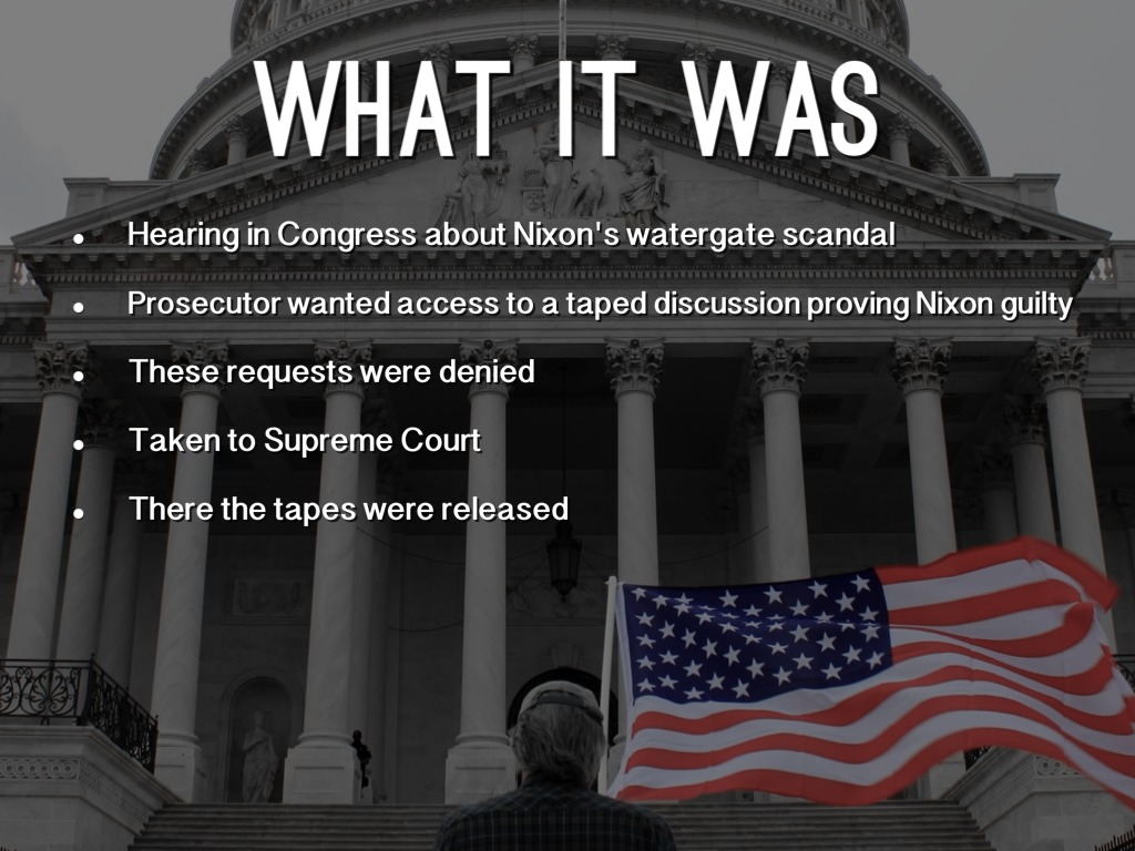 us vs nixon Us v nixon is the written opinion of the court, penned by chief justice warren burger it's a summary of what happened in the district court, followed by the supreme court's reasoning that led them to affirm the lower court's ruling.