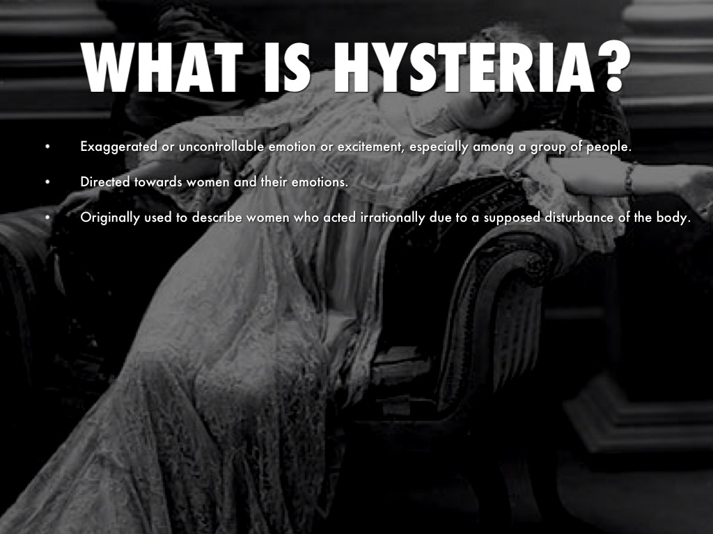 hysteria and fear in the crucible
