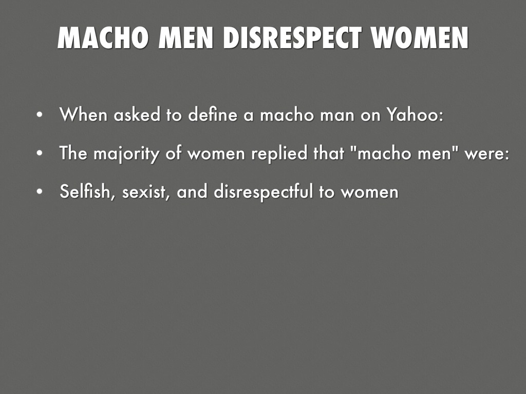 Why Does A Man Disrespect A Woman