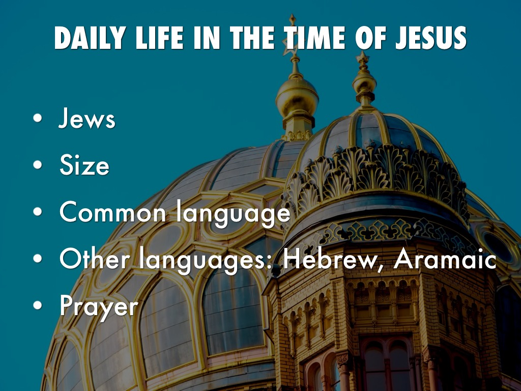 daily life in the time of jesus pdf