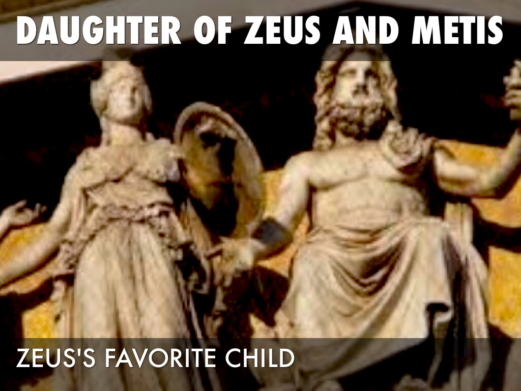 a focus on the lives of zeus and metis in the greek mythology story athena birth