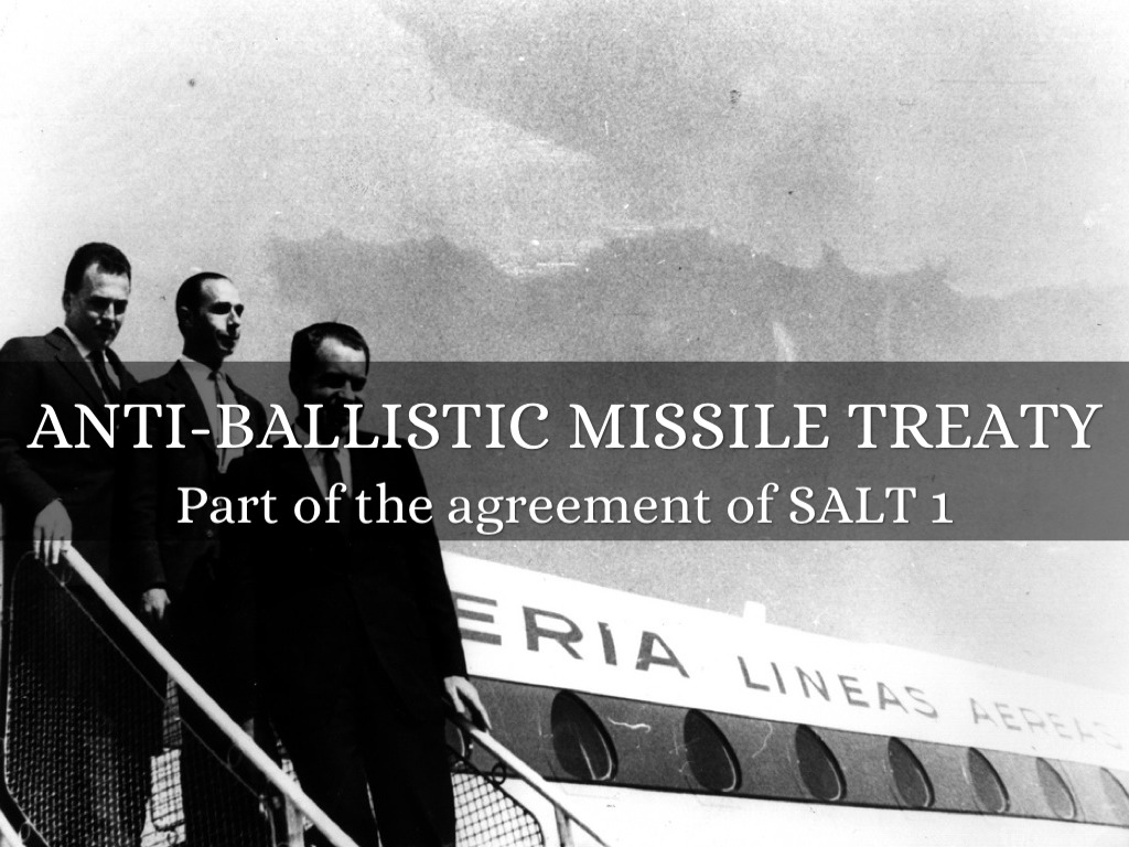 an analysis of the president bushs breaking of anti ballistic missile treaty with russia Watch video news & analysis video pro russia's president vladimir putin denied 2002 under president george w bush the anti-ballistic missile treaty was.