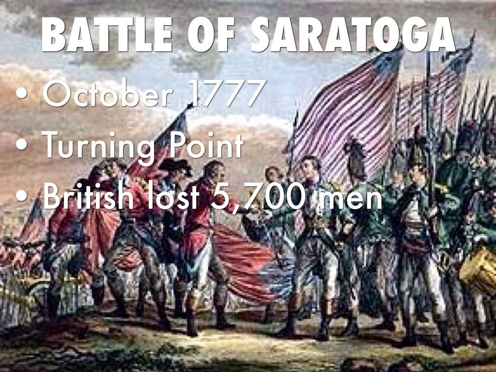 why the battle of saratoga the