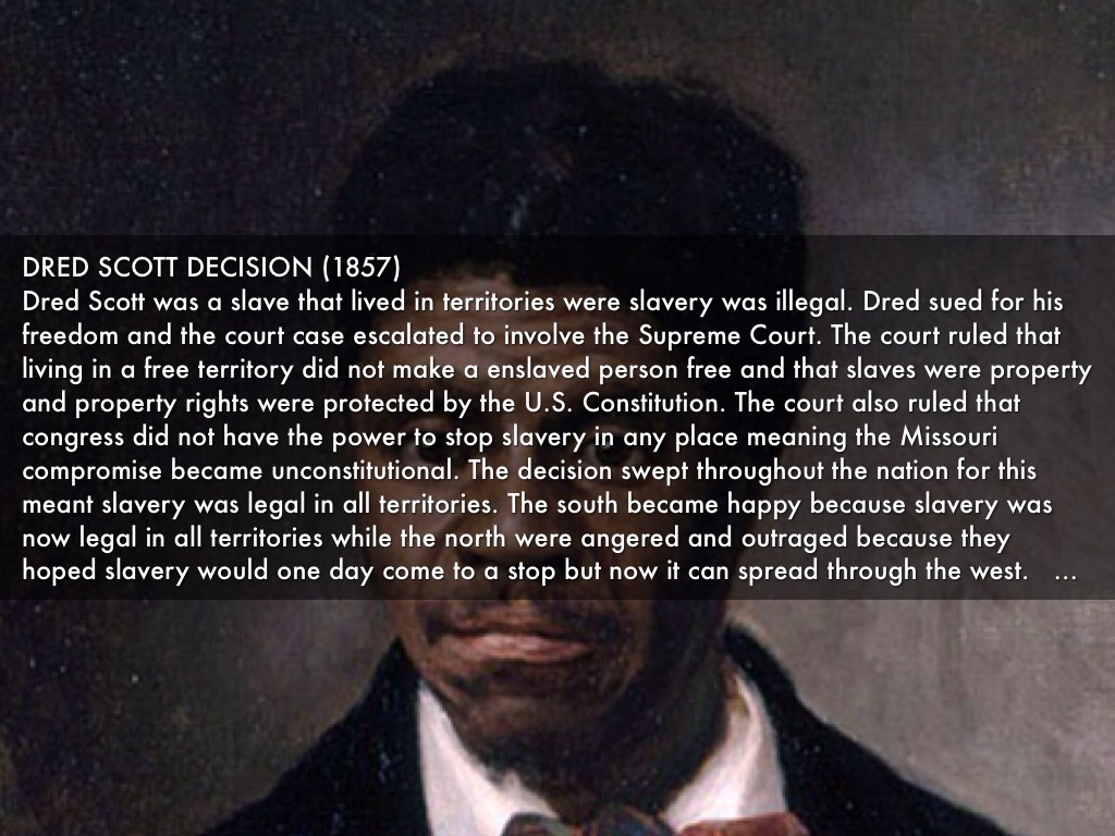 the dred scott decision 3 essay Dred scott vs sanford case (research paper sample) john emerson who was the master to dred scott the decision of the court led to mixed in the essay.