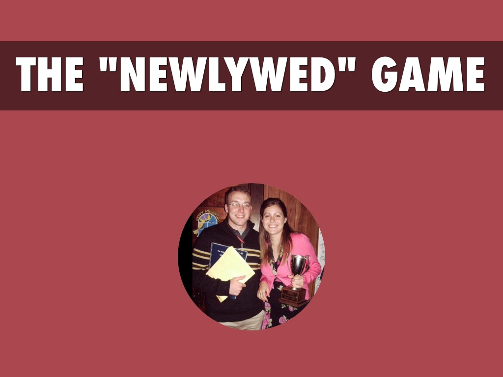 """Small Group """"Newlywed"""" Game"""
