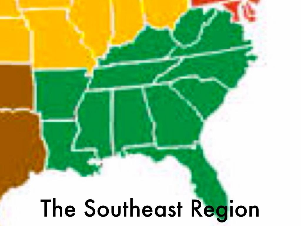 Southeast Region By Lllaur - Blank map of us southeast region