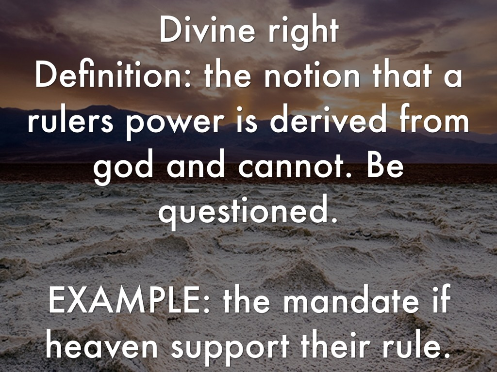divine right example