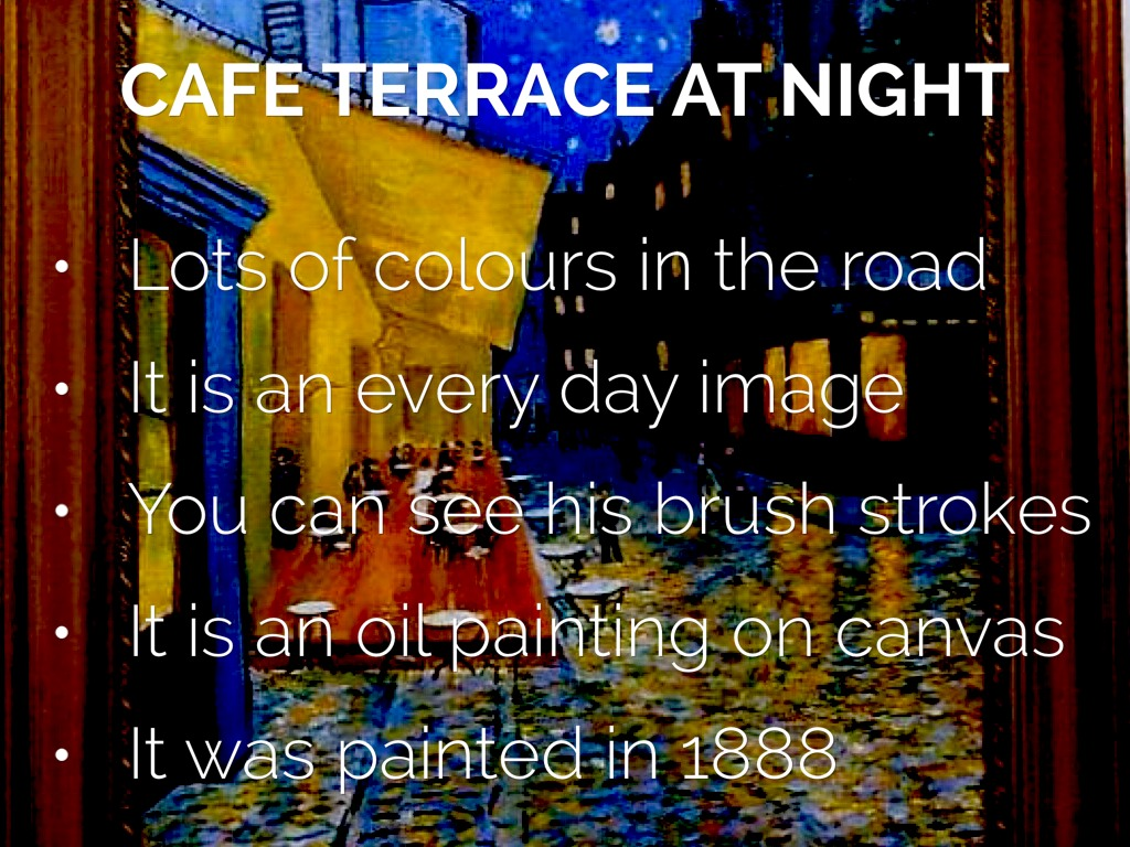 Cafe Terrace At Night By Isadora Noble